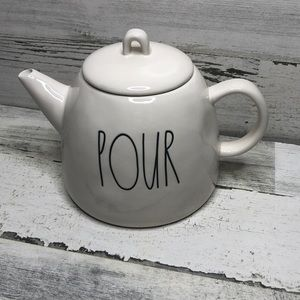 Rae Dunn POUR tea kettle NEW! White LL farmhouse
